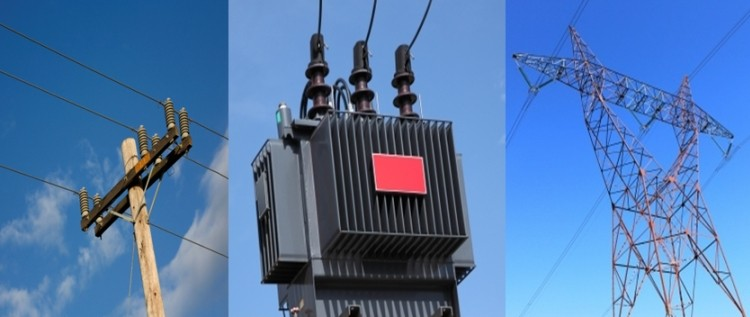 power lines and substations (transformers)