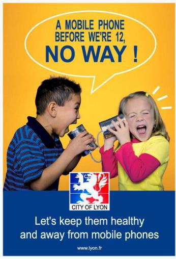 anti cell phone fro children campaing