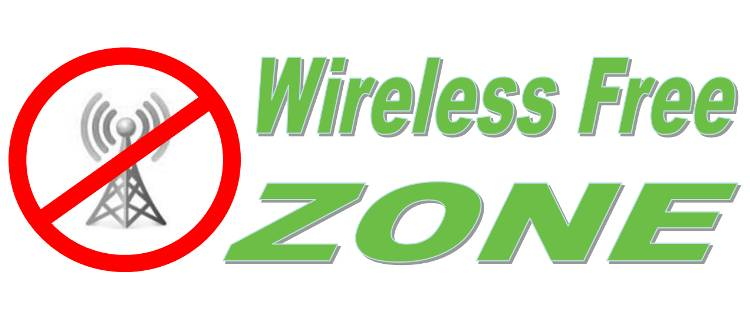 wireless free zone sign
