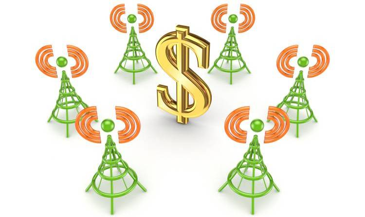 cell phone masts rental profit