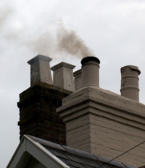 chimney smoking